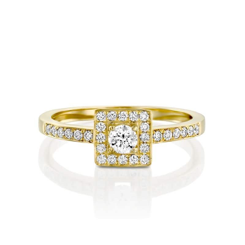 טבעת אירוסין סגוביה זהב צהוב, 0.43 קראט