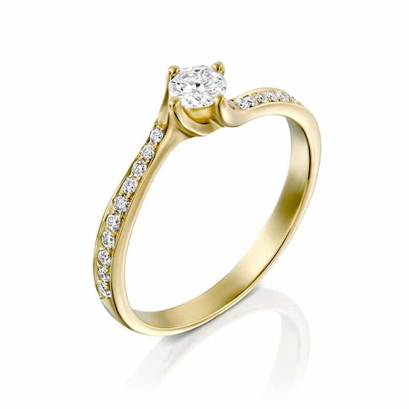 טבעת אירוסין טוויסט דגם AV481