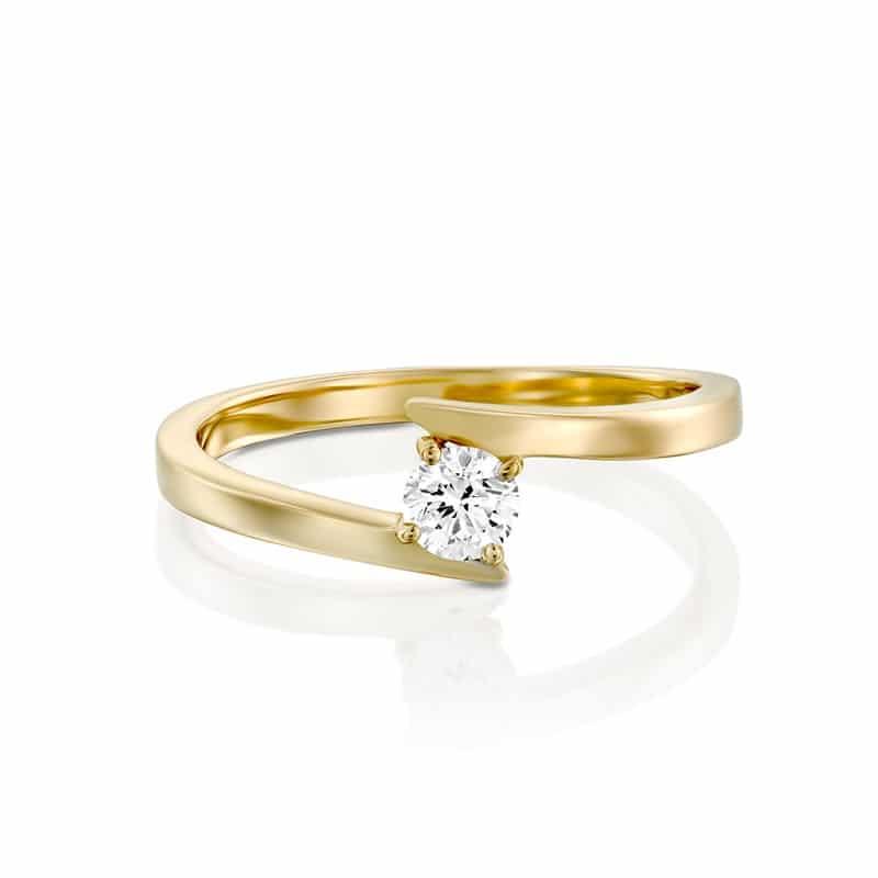 טבעת אירוסין ברלין  זהב צהוב, 0.25 קראט