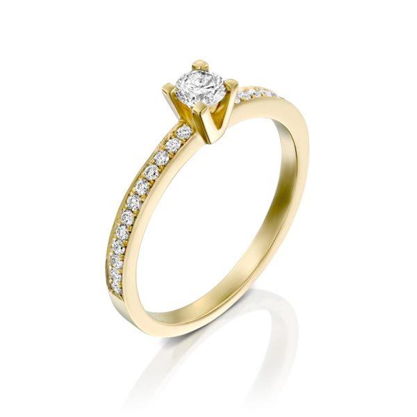 טבעת אירוסין סאלפורד בזהב צהוב, 0.34 קראט