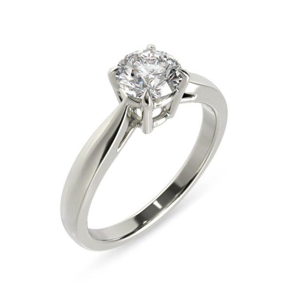 טבעת אירוסין קולון זהב לבן, 0.40 קראט