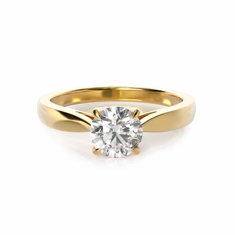 טבעת אירוסין קולון זהב צהוב, 0.40 קראט