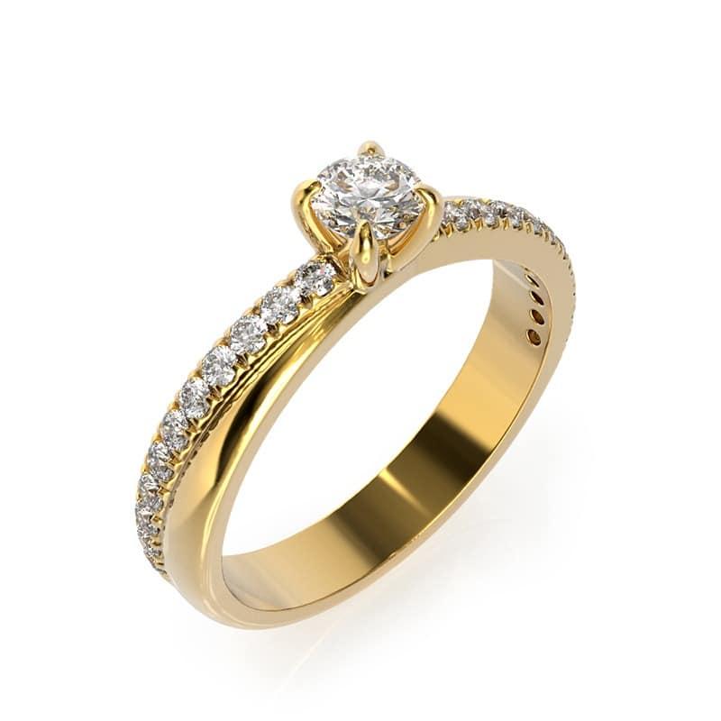 טבעת אירוסין רידינג זהב צהוב, 0.44 קראט