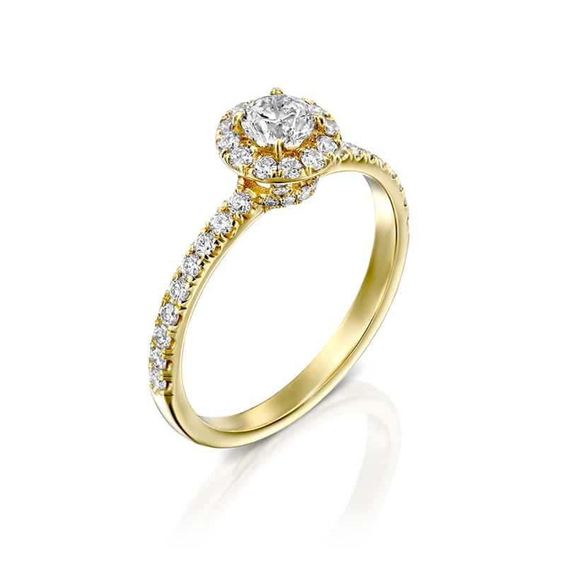 טבעת אירוסין אסטי זהב צהוב, 1.00 קראט