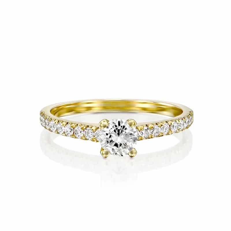טבעת אירוסין פליטווד זהב צהוב,  1.19 קראט