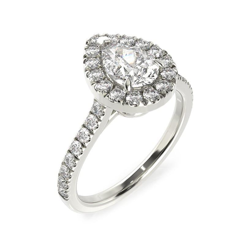 טבעת אירוסין בילבאו זהב לבן, 1.05 קראט