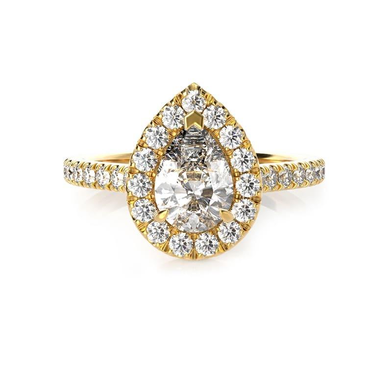 טבעת אירוסין בילבאו זהב צהוב, 1.05 קראט