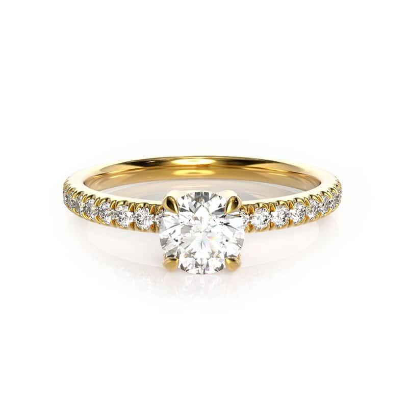 טבעת אירוסין לימוז' זהב צהוב, 0.45 קראט