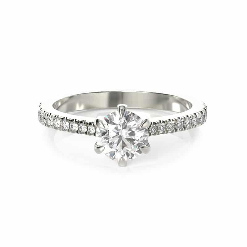 טבעת אירוסין קובנטרי זהב לבן, 0.75 קראט