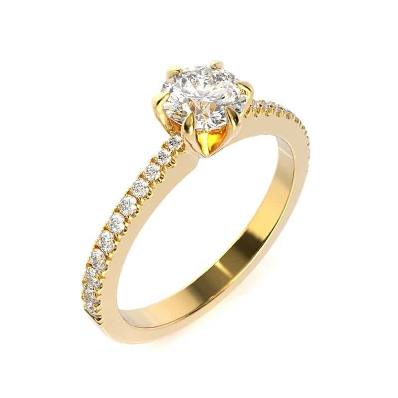 טבעת אירוסין קובנטרי זהב צהוב, 0.75 קראט