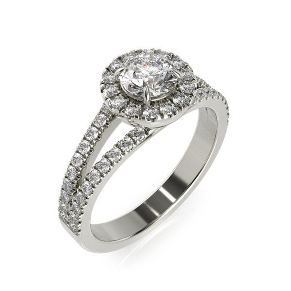 טבעת אירוסין אלמירה זהב לבן, 1.00 קראט