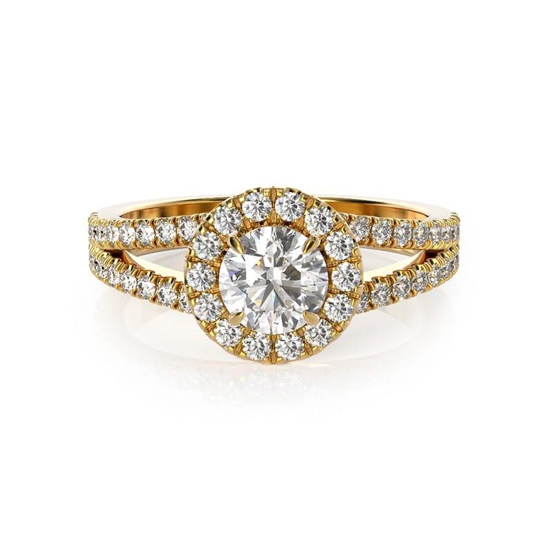 טבעת אירוסין אלמירה זהב צהוב, 1.00 קראט