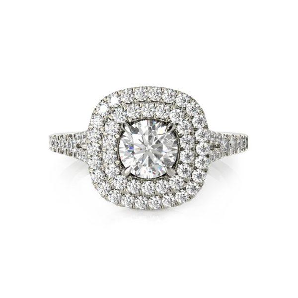 טבעת אירוסין סאדונה זהב לבן, 1 קראט