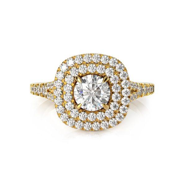 טבעת אירוסין קורונה זהב צהוב, 1 קראט