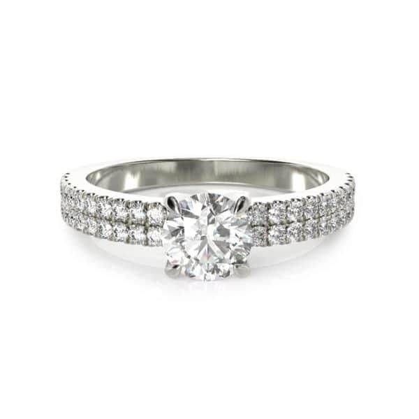 טבעת אירוסין לונדון זהב לבן, 0.90 קראט