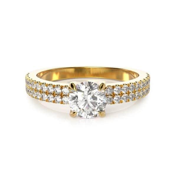 טבעת אירוסין לונדון  זהב צהוב, 0.90 קראט