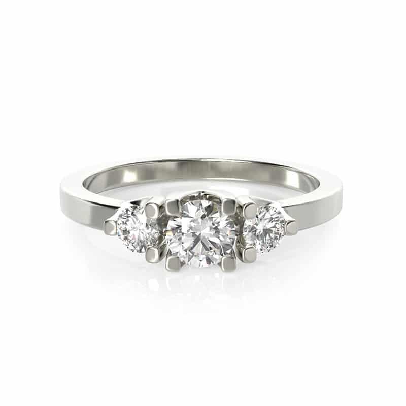טבעת אירוסין גלוצ'סטר זהב לבן, 0.59 קראט