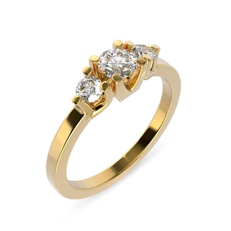 טבעת אירוסין גלוצ'סטר זהב צהוב, 0.59 קראט