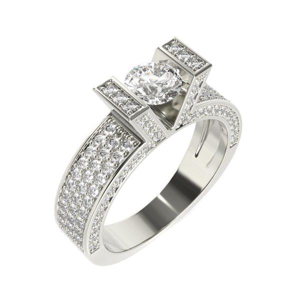 טבעת אירוסין קאן זהב לבן, 1.05 קראט