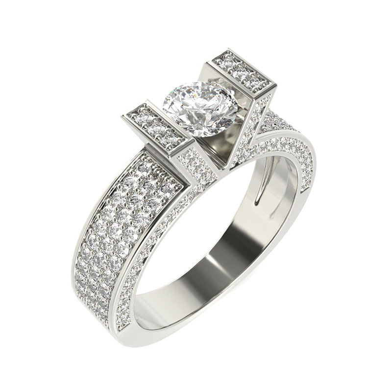 טבעת יהלומים