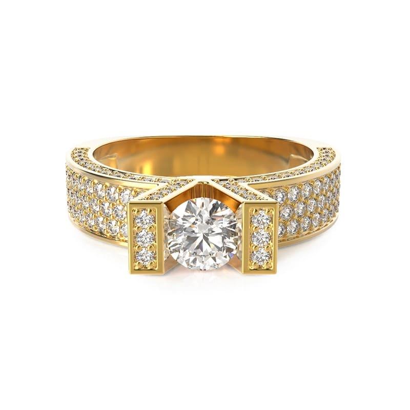 טבעת אירוסין קאן זהב צהוב, 1.05 קראט