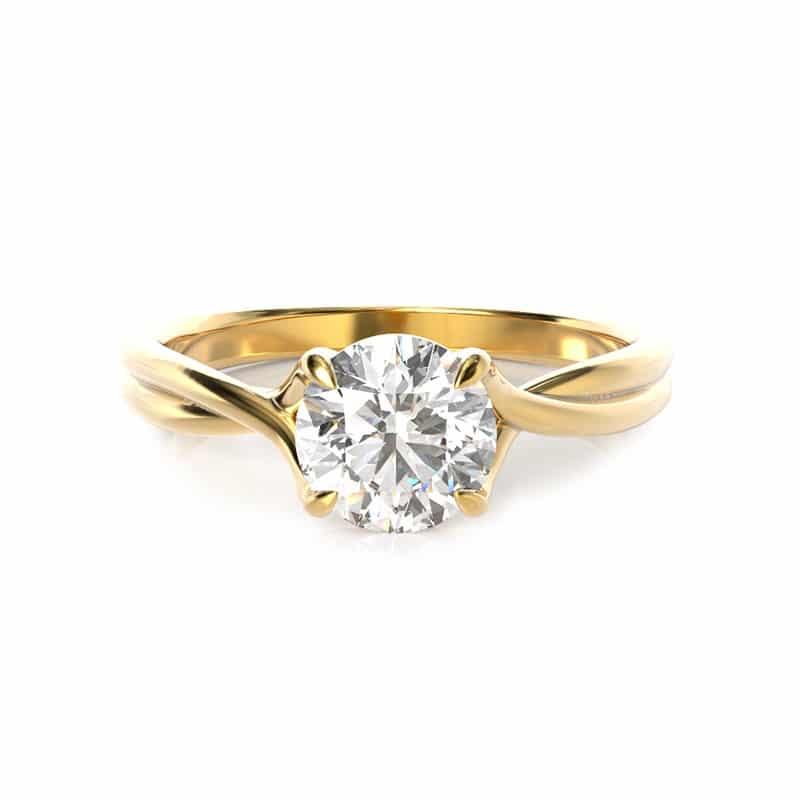 טבעת אירוסין הלסינקי זהב צהוב, 0.50 קראט