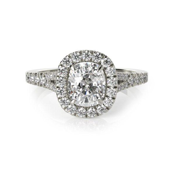 טבעת אירוסין סרגוסה זהב לבן , 1.24 קראט