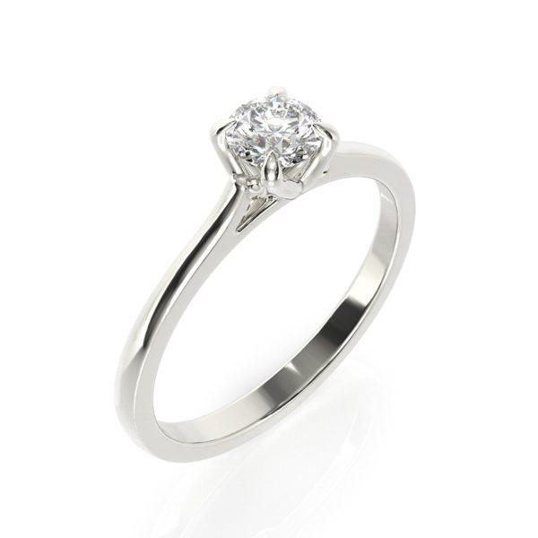 טבעת אירוסין קלן זהב לבן, 0.3 קראט