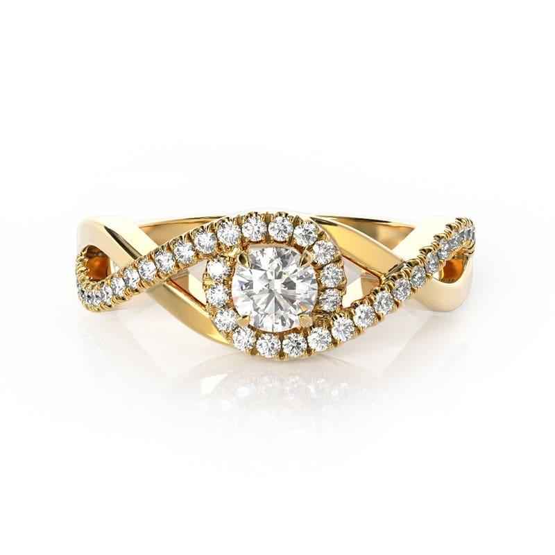 טבעת אירוסין מריאן זהב צהוב, 0.47 קראט
