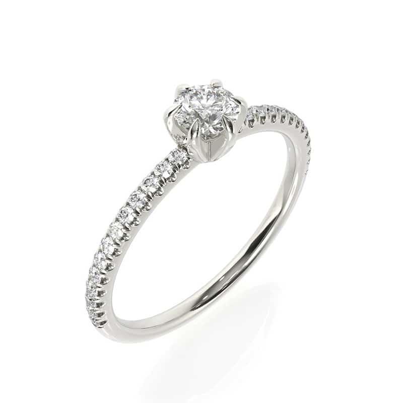 טבעת אירוסין מרסיי זהב לבן, 0.45 קראט