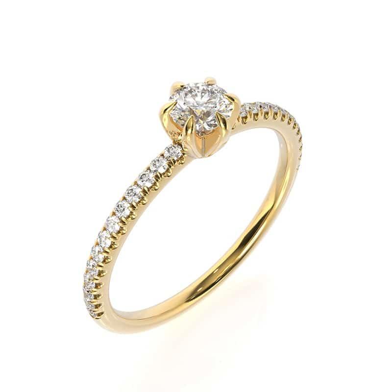 טבעת אירוסין מרסיי זהב צהוב, 0.45 קראט
