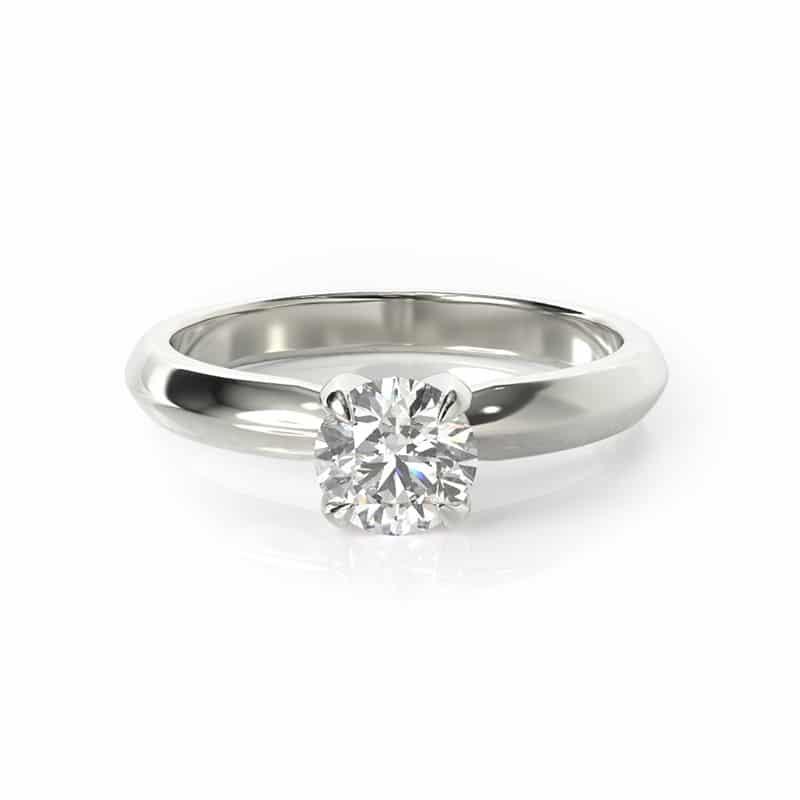 טבעת אירוסין ווילס זהב לבן, 0.25 קראט
