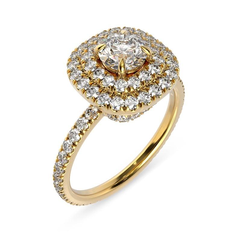 טבעת אירוסין פמפלונה זהב צהוב, 1.27 קראט