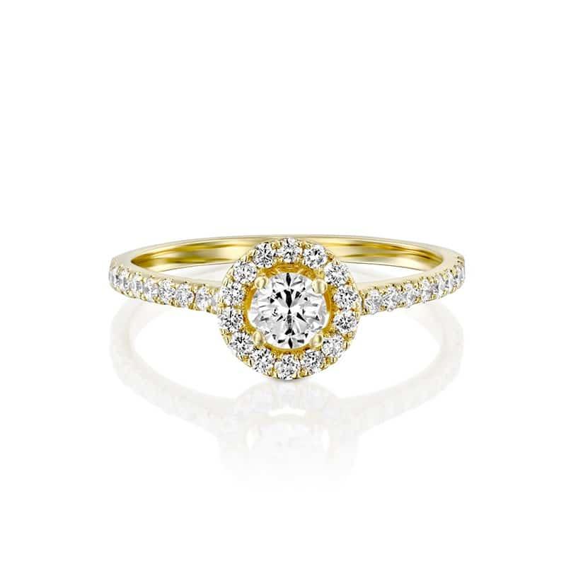 טבעת אירוסין בארי זהב צהוב, 0.65 קראט
