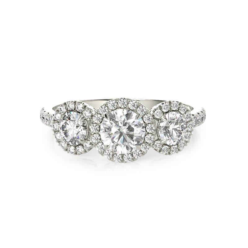 טבעת אירוסין ברצלונה זהב לבן, 1.07 קראט