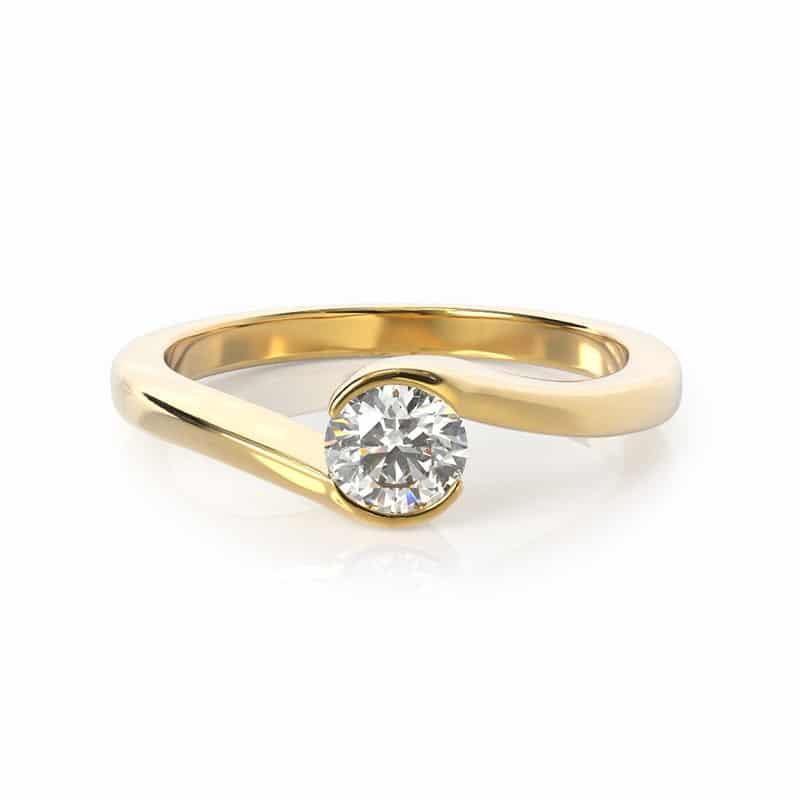 טבעת אירוסין זלצבורג זהב צהוב, 0.35 קראט