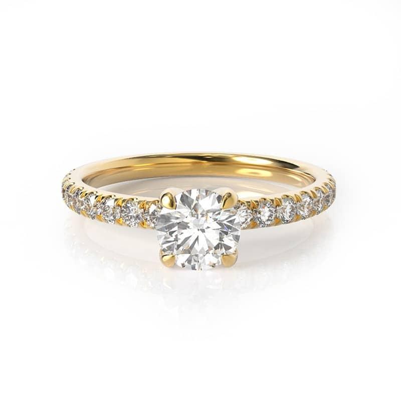 טבעת אירוסין ליל זהב צהוב, 0.75 קראט
