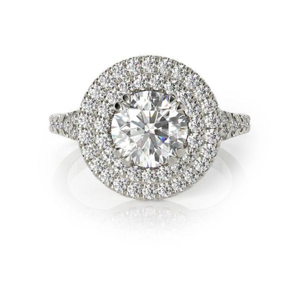 טבעת אירוסין לאון זהב לבן, 1.20 קראט