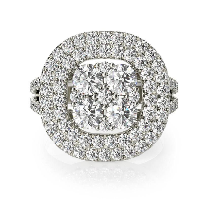טבעת אירוסין קורדובה זהב לבן, 1.76 קראט