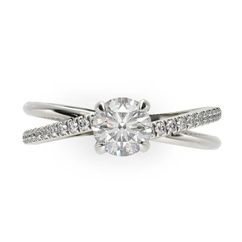 טבעת אירוסין מוסקבה זהב לבן, 0.51 קראט