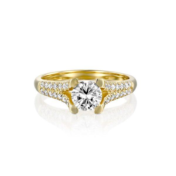 טבעת אירוסין זהב צהוב ורוניקה 1.00 קראט