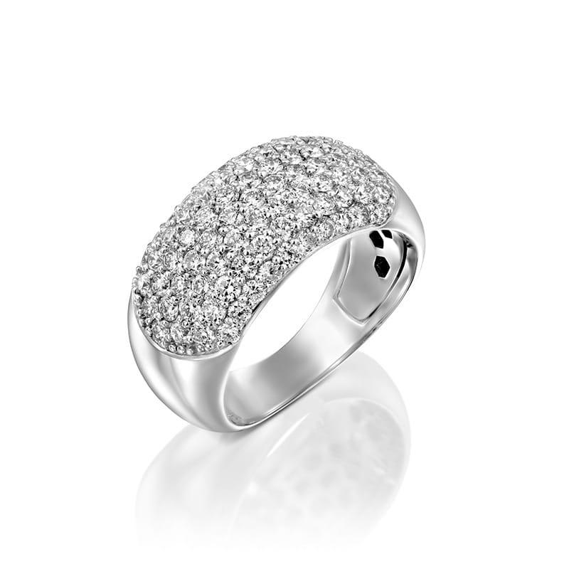טבעת יהלומים מעוצבת ברק תמידי