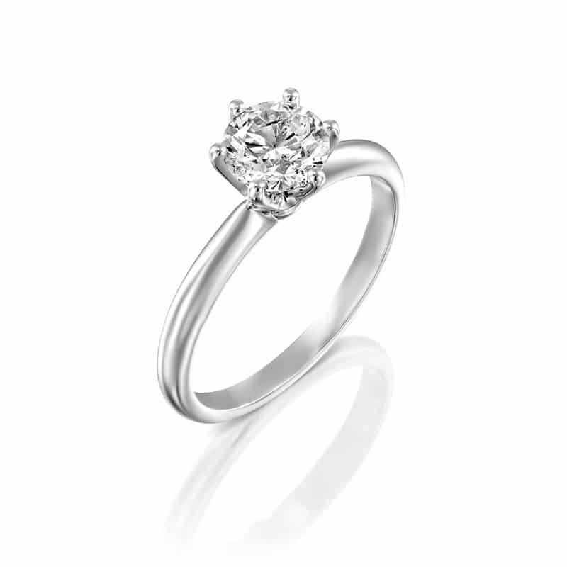 טבעת אירוסין שפילד זהב לבן, 1.00 קראט