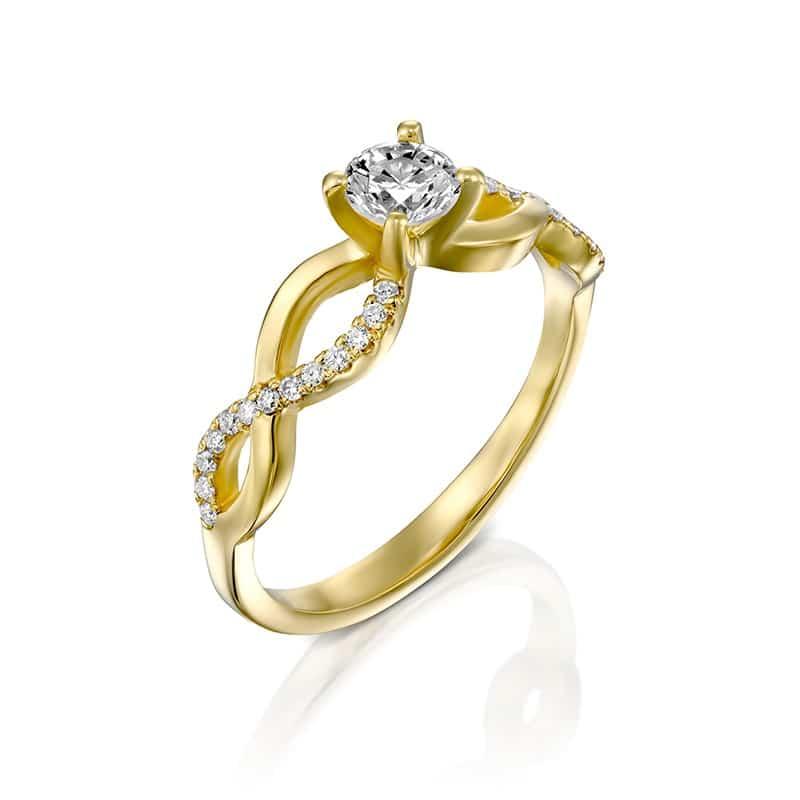 טבעת אירוסין מלאגה זהב צהוב, 0.48 קראט
