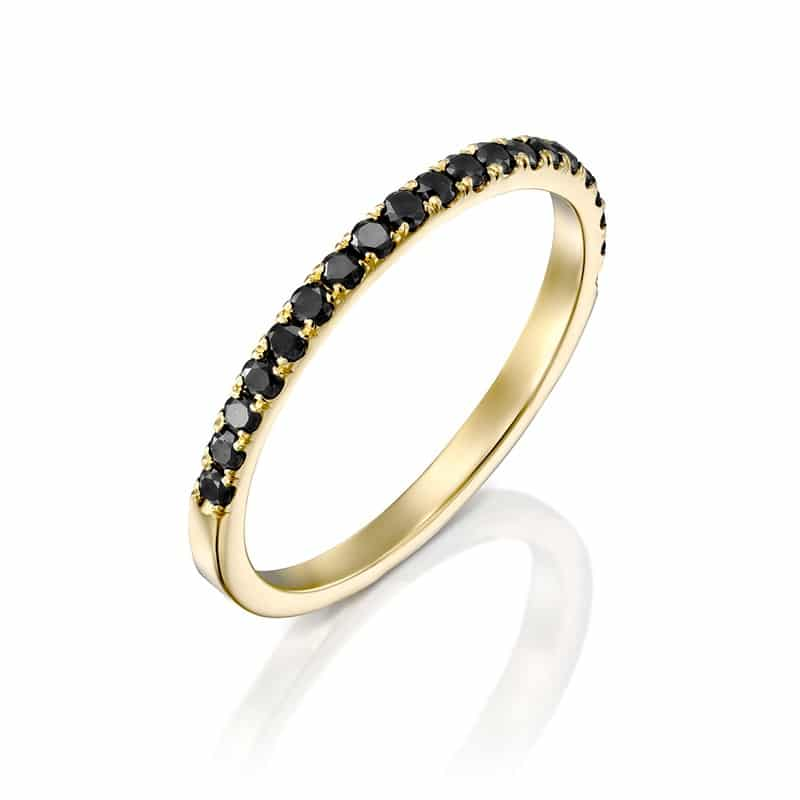 טבעת יהלומים מעוצבת אופק לילי