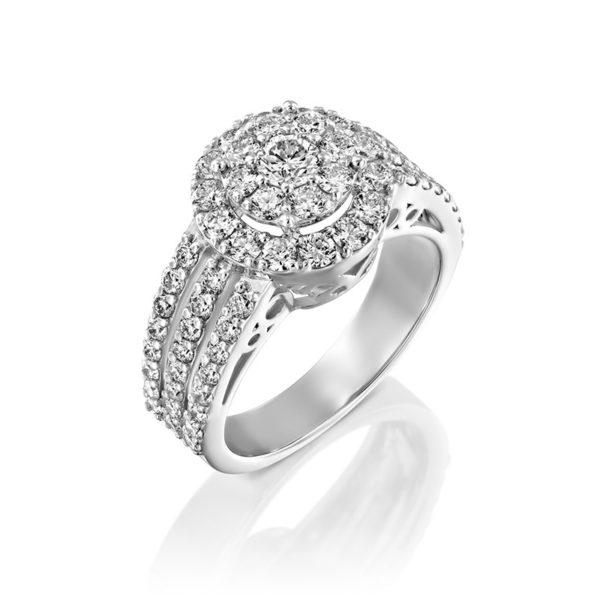טבעת אירוסין גלוריה זהב לבן  2.10 קראט