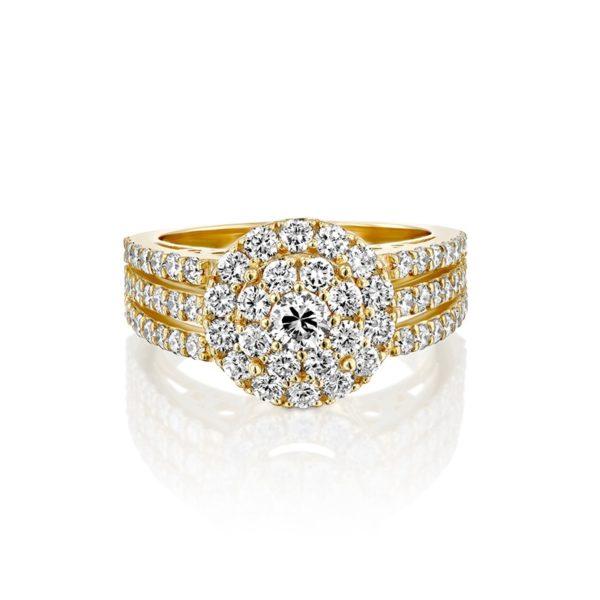 טבעת אירוסין גלוריה זהב צהוב  2.10 קראט