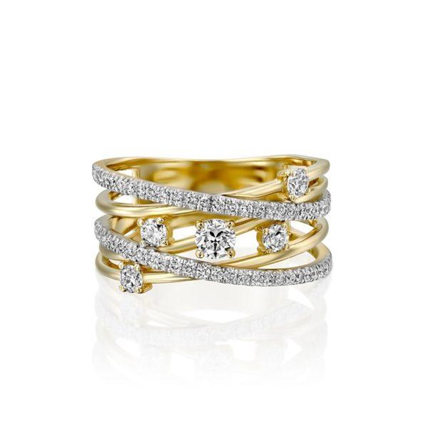 טבעת חבלי יהלומים קטנה