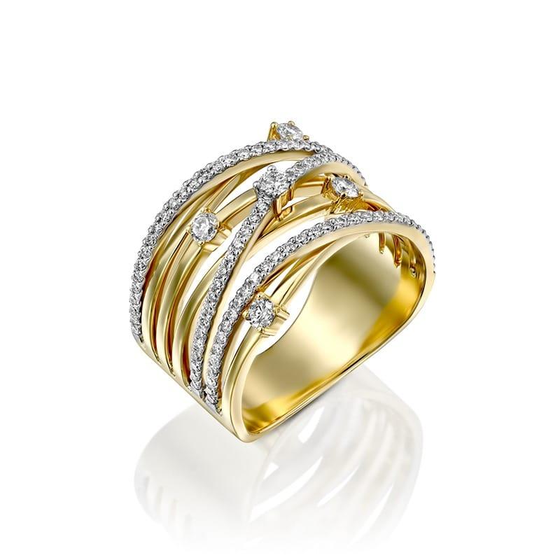 טבעת חבלי יהלומים גדולה