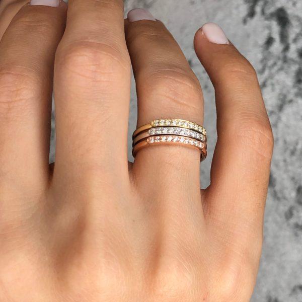 טבעת יהלומים דיאנה